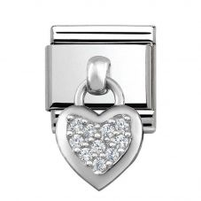 Nomination CLASSIC Silvershine Cubic Zirconia Heart Charm 331800/01