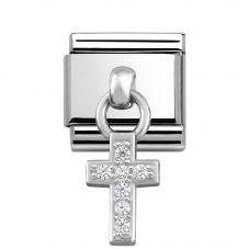 Nomination CLASSIC Silvershine Cubic Zirconia Cross Charm 331800/04