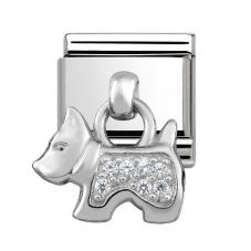 Nomination CLASSIC Silvershine Cubic Zirconia Dog Charm 331800/09