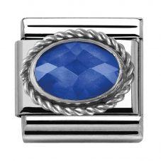 Nomination CLASSIC Silvershine Ornate Setting Charm 330604/007