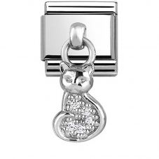 Nomination CLASSIC Silvershine Cat Dropper Charm 331800/18