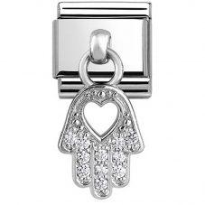 Nomination CLASSIC Silvershine Hamsa Hand Of Fatima Charm 331800/20