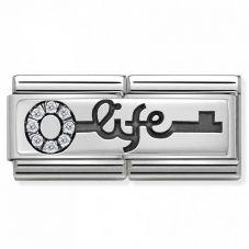 Nomination CLASSIC Silvershine Double Link Key of Life Charm 330731/04