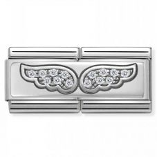 Nomination CLASSIC Silvershine Double Link Angel Wings Charm 330732/01