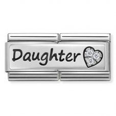 Nomination CLASSIC Silvershine Double Link Daughter Heart Charm 330731/02