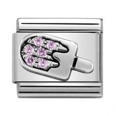 Nomination CLASSIC Silvershine Symbols Ice Cream With Pink Cubic Zirconia Charm 330304/27