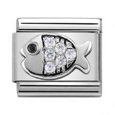 Nomination CLASSIC Silvershine Symbols Goldfish With White Cubic Zirconia Charm 330304/28