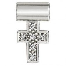Nomination Seimia Silver Cubic Zirconia Cross Charm 147116/004