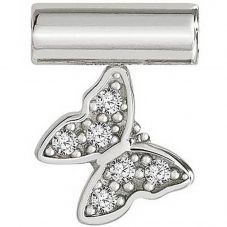 Nomination Seimia Silver Cubic Zirconia Butterfly Charm 147116/010