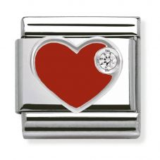 Nomination CLASSIC Silvershine Red Love Heart Charm 330305/01