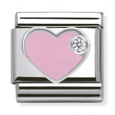 Nomination CLASSIC Silvershine Pink Love Heart Charm 330305/02