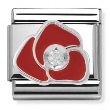 Nomination CLASSIC Silvershine Red Rose Flower Charm 330305/05