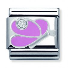 Nomination CLASSIC Silvershine Pink Buttefly Charm 330305/07