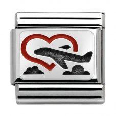 Nomination CLASSIC Silvershine Plates Honeymoon Charm 330208/02