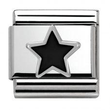 Nomination CLASSIC Silvershine Symbols Black Star Charm 330202/05