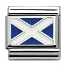 Nomination CLASSIC Silvershine Flags Scotland Charm 330207/01