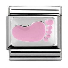 Nomination CLASSIC Silvershine CiaoLapo Small Pink Foot Charm 330281/10
