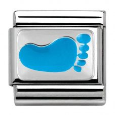 Nomination CLASSIC Silvershine CiaoLapo Small Blue Foot Charm 330281/11