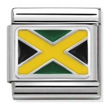 Nomination CLASSIC Silvershine Flags Jamaica Charm 330207/28