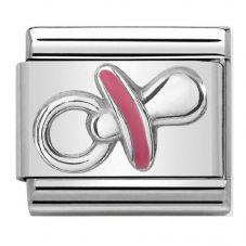 Nomination CLASSIC Silvershine Symbols Pink Dummy Charm 330202/39