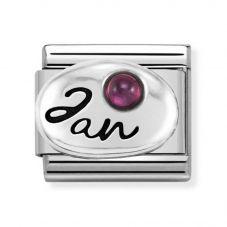 Nomination CLASSIC Silvershine Symbols January Garnet Birthstone Charm 330505/01