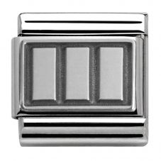 Nomination CLASSIC Silvershine Oxidised Rectangles Charm 330102/16