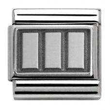 Nomination CLASSIC Silvershine Oxidised Rectangles Charm 330102/16