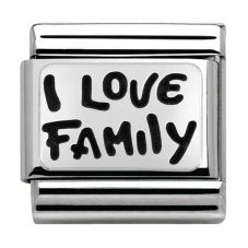 Nomination CLASSIC Silvershine My Family I Love Family Charm 330102/34