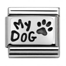 Nomination CLASSIC Silvershine My Family My Dog Charm 330102/35