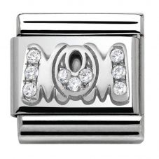 Nomination CLASSIC Silvershine My Family Cubic Zirconia Mom Charm 330316/07