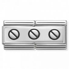 Nomination CLASSIC Silvershine Double Link 3 Screws Charm 330710/02