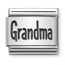 Nomination CLASSIC Silvershine Plates Oxidised Grandma Charm 330102/44