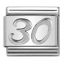 Nomination CLASSIC Silvershine Oxidised Symbols 30 Charm 330101/22