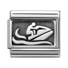Nomination CLASSIC Silvershine Plates Oxidised Jetski Charm 330102/47
