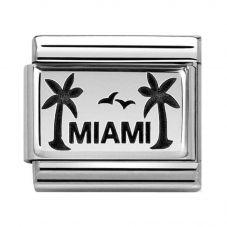 Nomination CLASSIC Silvershine Plates Oxidised Palms With Miami Charm 330102/48
