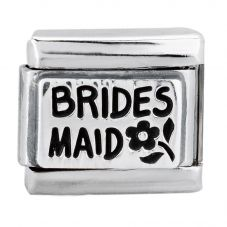 Nomination CLASSIC Silvershine Plates Oxidised Bridesmaid Charm 330102/49