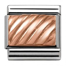 Nomination CLASSIC Rose Gold Engraved Stripe Charm 430102/05