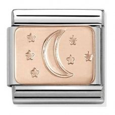 Nomination CLASSIC Rose Gold Plates Moon And Stars Charm 430101/31