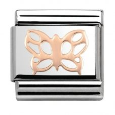 Nomination CLASSIC Rose Gold Plates Butterfly Charm 430104/09