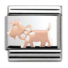 Nomination CLASSIC Rose Gold Plates Dog Charm 430104/10