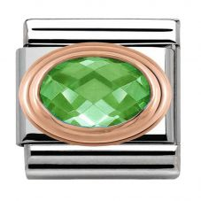 Nomination CLASSIC Rose Gold Green Faceted Cubic Zirconia Charm 430601/004