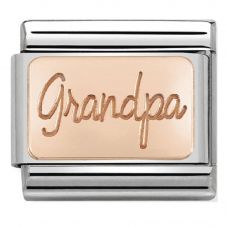 Nomination CLASSIC Rose Gold Plates Grandpa Charm 430101/35