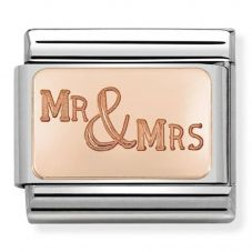 Nomination CLASSIC Rose Gold Plates Mr and Mrs Charm 430101/39