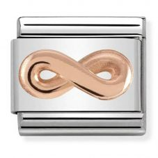 Nomination CLASSIC Rose Gold Relief Infinity Charm 430106/03