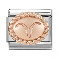 Nomination CLASSIC Rose Gold Oval Zodiac Aries Charm 430109/01