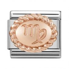 Nomination CLASSIC Rose Gold Oval Zodiac Virgo Charm 430109/06