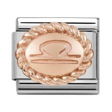 Nomination CLASSIC Rose Gold Oval Zodiac Libra Charm 430109/07