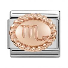Nomination CLASSIC Rose Gold Oval Zodiac Scorpio Charm 430109/08