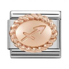 Nomination CLASSIC Rose Gold Oval Zodiac Sagittarius Charm 430109/09