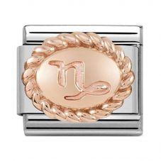 Nomination CLASSIC Rose Gold Oval Zodiac Capricorn Charm 430109/10